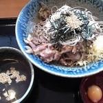 そば太鼓亭 - 肉盛りそば(大盛り700円)