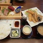 ふじ丸 - お刺身・ミックスフライ定食