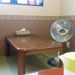 お食事処花茶碗 - 小上がりの座敷席です