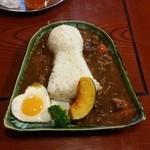 お食事処花茶碗 - 料理写真:前方後円墳の形をした「古墳カレー (1000円)」