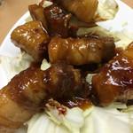 三陽 御用亭 - 豚バラサイコロステーキ