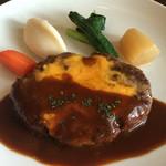 キッチンアンドダイニング ハイ・ツリー - 料理写真:チーズをのせたハンバーグステーキ(*^^*)