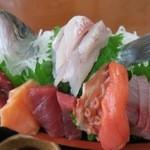 くろしお - 船定食(刺身アップ)