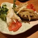 吉祥寺 三うら - セリおひたしとキャラ煮
