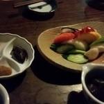 48798214 - 味噌三点盛り+野菜盛り(大)