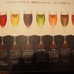 48799266 - メニュー(ビールカクテル)