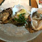 48809646 - 牡蠣は左から、熊本産、島根産、長崎五島産