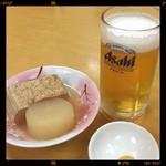 シ・オン - 料理写真:カンペ〜( ´ ▽ ` )ノ 今夜は能登の温泉付き道の駅です。 風呂上がりの一杯はやっぱりイイね❗️(笑)