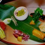 旬彩 おおかわ - 前菜の種類は多めになってます!
