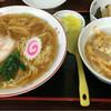 やまね食堂 - 料理写真:ラーメンとミニカツ丼