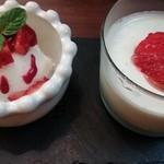 48816285 - パンナコッタとミルクのジェラート