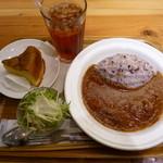 meal MUJI - バターチキンカレー+アイスティー+