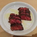 ブッフェ ザ フォレスト - オーダーすると切り分けてもらえる牛肉のグリル(食べ放題)
