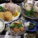 新よし - 料理写真:岩牡蠣のコース料理5,250円