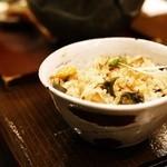 蕎麦きり 彦衛門 - 変わりご飯(筍と海老)
