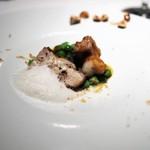 ALLIE - リ・ド・ヴォ―と海老、うすい豆 ヘーゼルナッツの泡