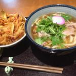 48822164 - 豚と水菜のハリハリうどん・かき揚げ丼ミニ
