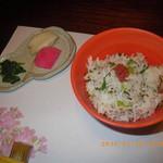 四代目 高島家 - お食事 じゃこ菜飯とお新香