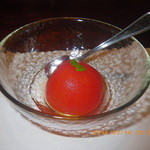 四代目 高島家 - ラストの甘味 トマトのコンポート