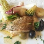 48829969 - 【メイン】真鯛のグリル タプナードソース