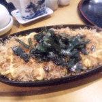 綾鷹  - 山芋鉄板焼き(お好み風)