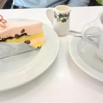 六花亭 - さくらケーキ&コーヒー 2016.3