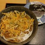 平野町 入福 - 野菜かき揚げ天ぷらうどん