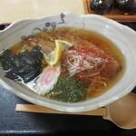 美食厨房まるよし - 椿・潮騒(さんま)ラーメン 700円