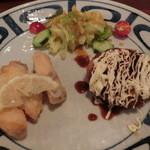 ゆめの庵 - 定番ランチメニュー)真鯛の南蛮漬け・コロッケ定食