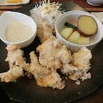 shunsaikafekanade - 鶏から上げと温野菜ゴママヨソース