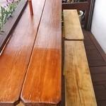 プエブロ - 常連さんと店主の「おやじ2人」でテラス席を最近リニューアル。