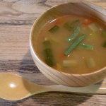 トゥッティカフェ - 料理写真:高きびとトマトのスープ