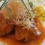 レストラン ラ・ペーシュ - チキンのトマトソース煮