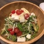 48840413 - アボカドとトマトのモッツァレラのサラダ