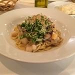 レストラン タガミ - ごぼうと小柱の和風スパゲティ