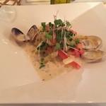 レストラン タガミ - 鯛のフリット あさりの白ワインクリームソース