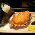 48841973 - 高菜おにぎり、いなり寿司