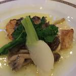 48843433 - ディナー、鱈のミレイユ ゆず胡椒風味。