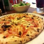 SASEBOピザ食堂 - ランチのピザセット:750円