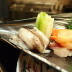 菜のはな - 生のミル貝も