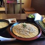 麺工房おおにし - 料理写真:今回は「播磨のそばづくし」におにぎりセットを追加しました(2016.3.21)