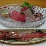秀峰閣 - 料理写真:夕食:刺身