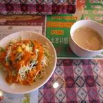 48854490 - 最初に、サラダとスープが来ました