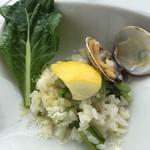 48856193 - Bランチ、小松菜とアサリのレモンリゾット。