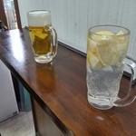 48856579 - 日昇レモンサワーと生ビール(共に380円)