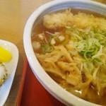 いとう - 料理写真:天ぷらうどん \700 平日ランチタイムは、おにぎりがサービス