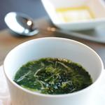 スカイ レストラン 634 - スープ ホタテのノリのスープ 意外においしい