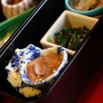 望洋樓 - 朝食:ついつい、なメニューですので、朝から日本酒をいただきました