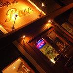 カフェドローズ - 夜はライトアップされて綺麗です