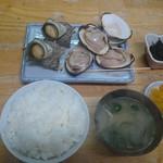 48867063 - 焼きハマグリ&サザエ定食
